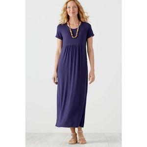 J. Jill Scoop-Neck Cuffed Pocket Maxi Dress